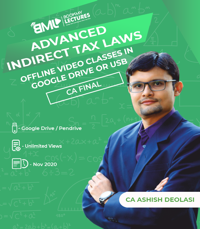 Advanced Tax Laws lectures by CA Ashish Deolasi