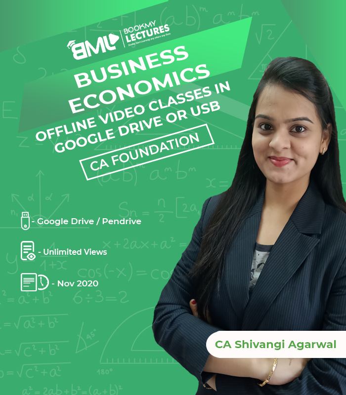 CA Foundation Business Economics video lectures with unlimited views by cA Shivangi Agarwal