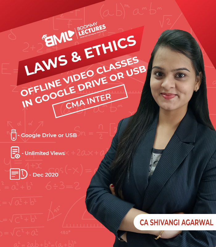 CMA Inter Laws 7 Ethics video lectures with unlimited views