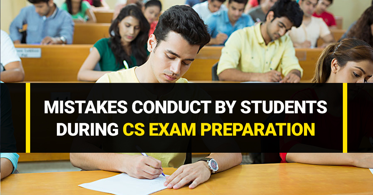 Mistakes Conduct By Students During CS Exam Preparation