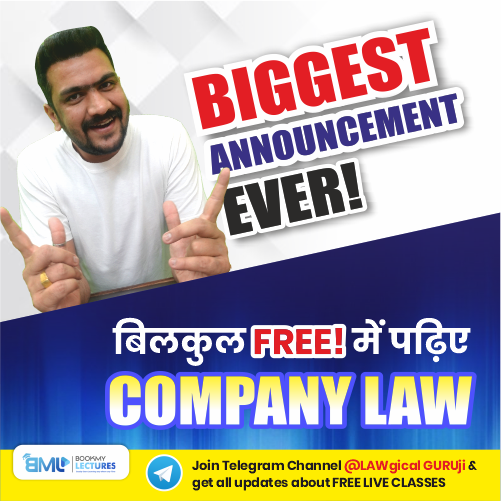 Learn Company Law without any fees