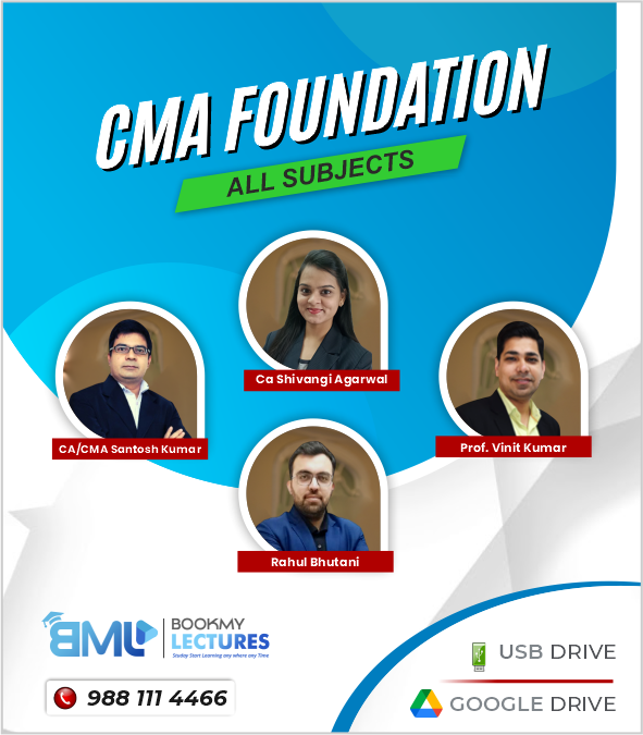 CMA Foundation - All Subjects Video Lectures